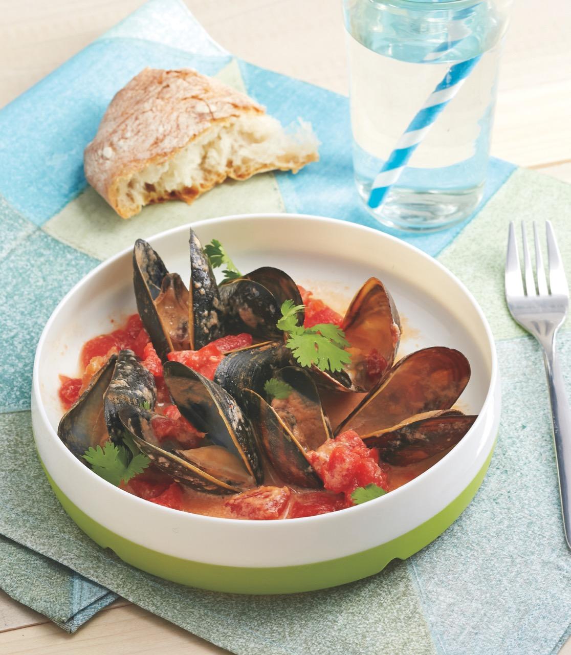 Coconut Curry Mussels (c) Lauren Volo