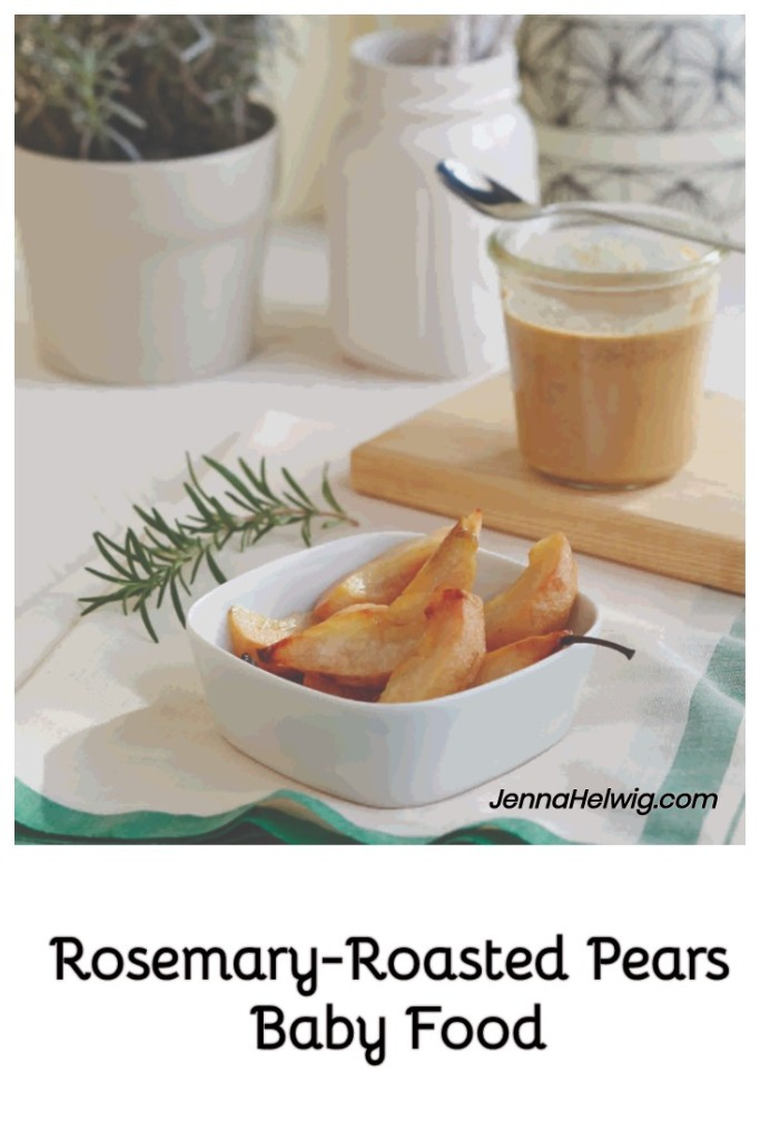 Roasted Pears with Rosemary and Almond Butter