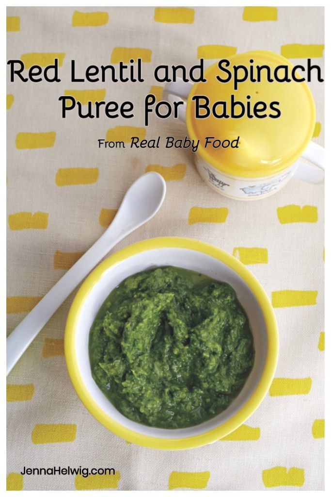 Red Lentil and Spinach Puree Baby Food