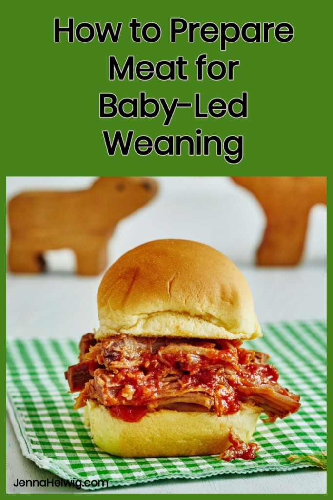 How to prepare meat for baby-led weaning and why using a slow cooker is a great way to cook meat for babies. #babyledweaningrecipes #slowcookerrecipes #babyfoodrecipes