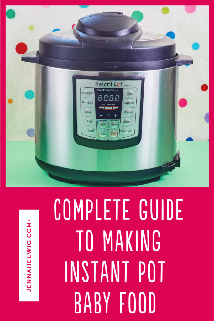 Instant Pot agains polka dot background